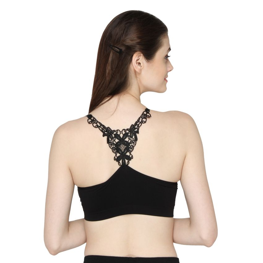 Buy Back Lace Padded Bralette Bra Online At Low Price  a01a5f20f