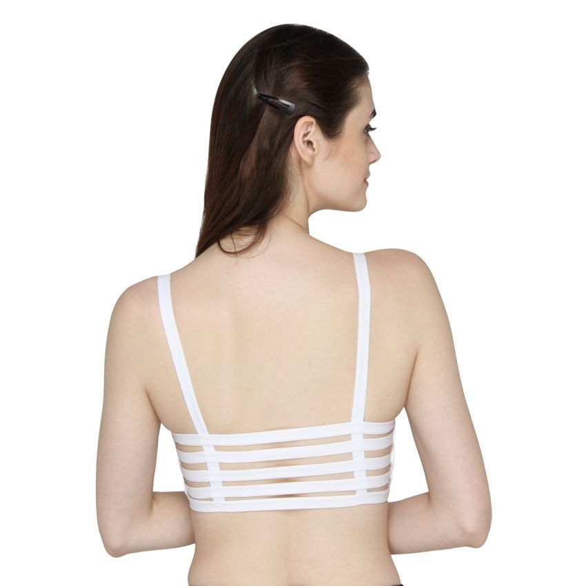 955b9a7a9 Shop Six Strap Bralettes – White Online at Low Price