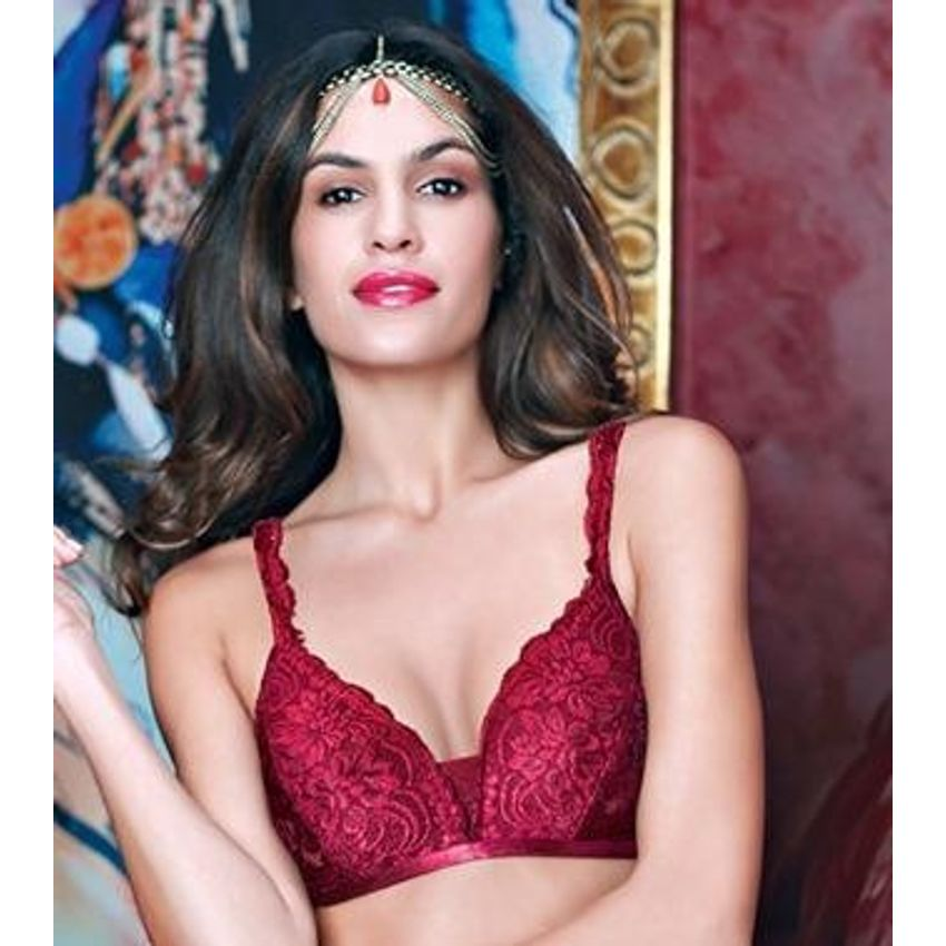 Enamor sangria lace bra online eclipse non padded bra for Push up bra cups for wedding dress