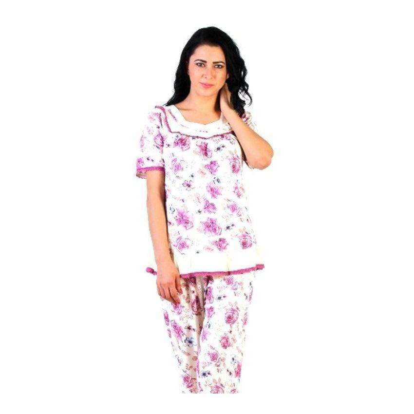 f370c28cd7 Buy Nightwear suit Floral Purple Online at Low Price– Intimodo