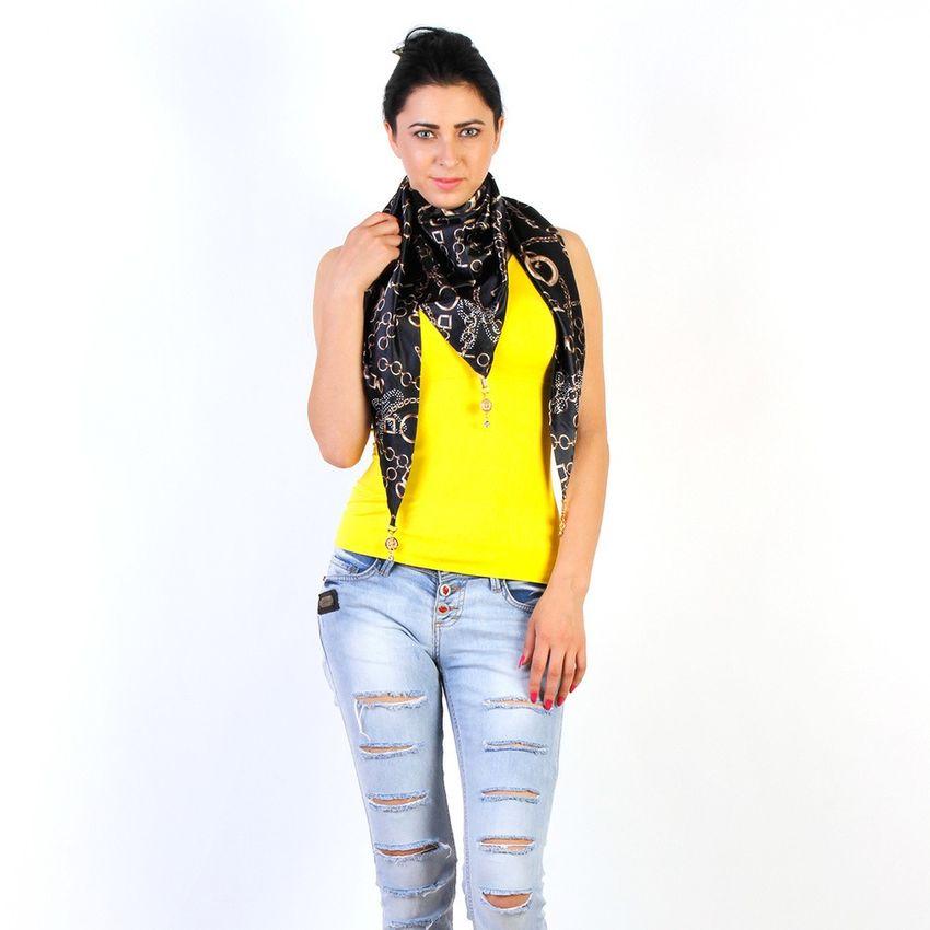 Buy Silk Scarf Black Online At Low Price