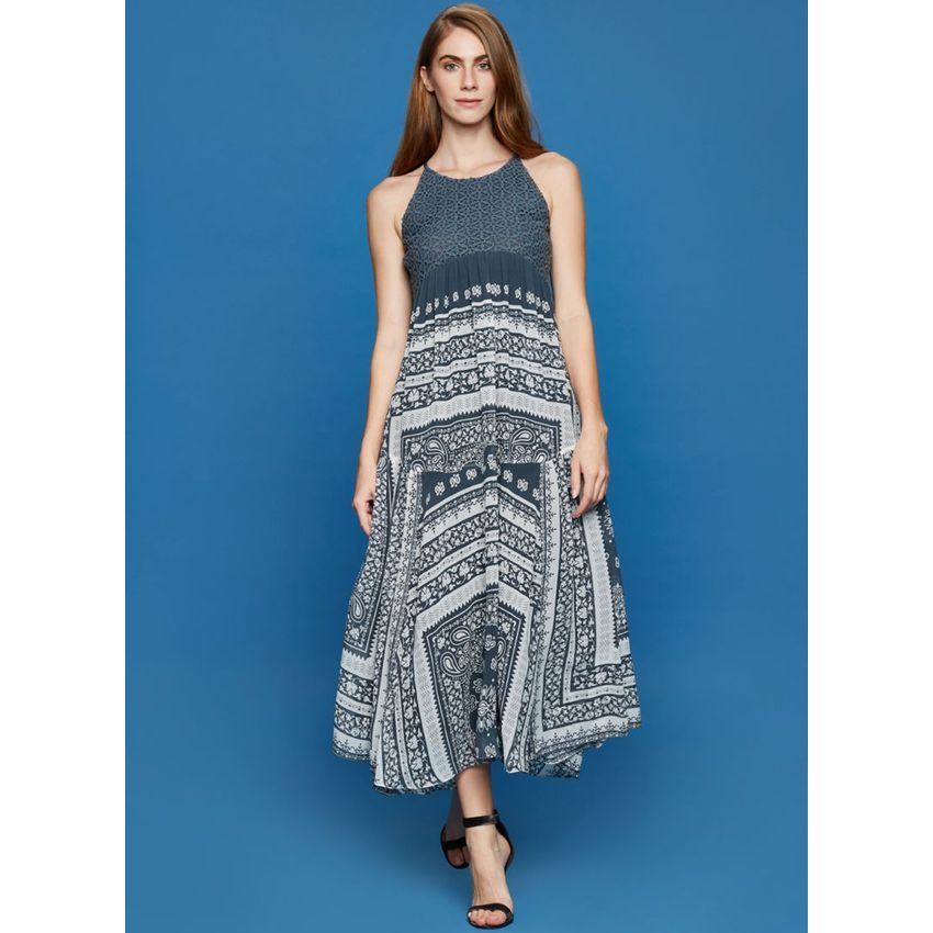 40e402daa5 Grey Boho Print Halter Dress | Pu18c Q 296 Wld