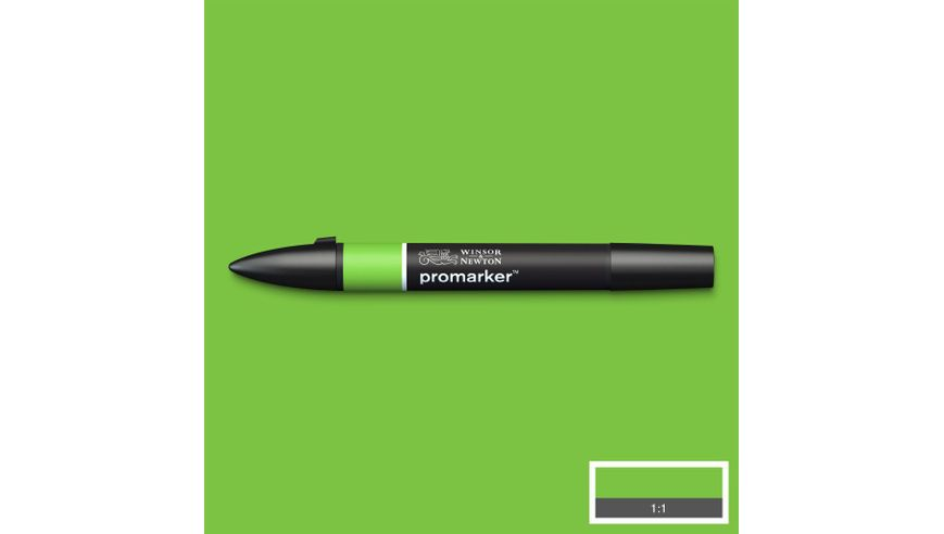 Winsor & Newton ProMarker - Twin Tip; Broad+Chisel - Alcohol Based - Bright Green