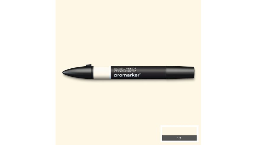Winsor & Newton ProMarker - Twin Tip; Broad+Chisel - Alcohol Based - Ivory