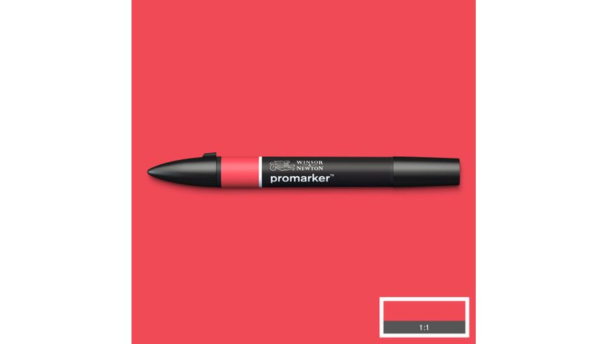 Winsor & Newton ProMarker - Twin Tip; Broad+Chisel - Alcohol Based - Lipstick Red
