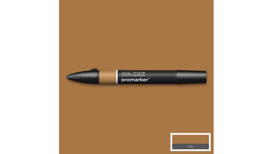 Winsor & Newton ProMarker - Twin Tip; Broad+Chisel - Alcohol Based - Cocoa