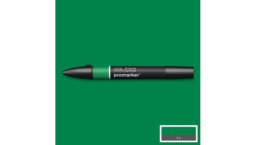 Winsor & Newton ProMarker - Twin Tip; Broad+Chisel - Alcohol Based - Lush Green