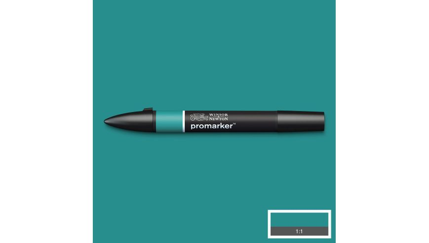 Winsor & Newton ProMarker - Twin Tip; Broad+Chisel - Alcohol Based - Marine