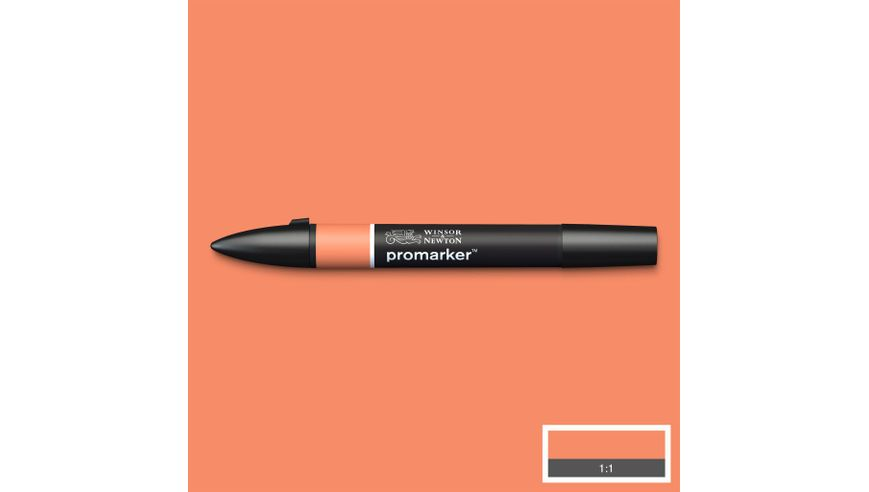 Winsor & Newton ProMarker - Twin Tip; Broad+Chisel - Alcohol Based - Peach