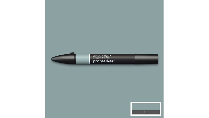 Winsor & Newton ProMarker - Twin Tip; Broad+Chisel - Alcohol Based - Grey Green