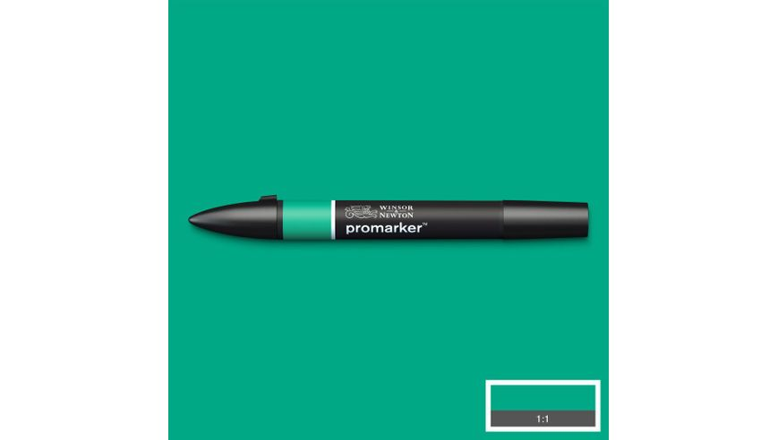 Winsor & Newton ProMarker - Twin Tip; Broad+Chisel - Alcohol Based - Green