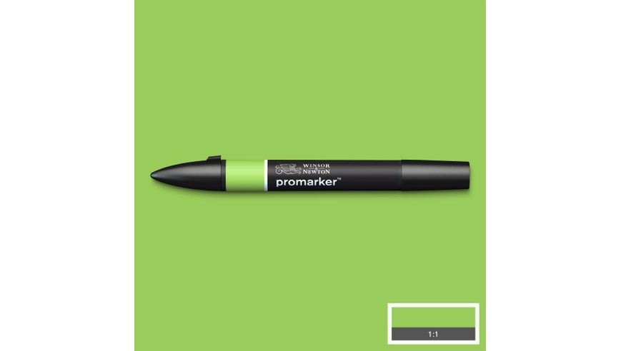 Winsor & Newton ProMarker - Twin Tip; Broad+Chisel - Alcohol Based - Leaf Green