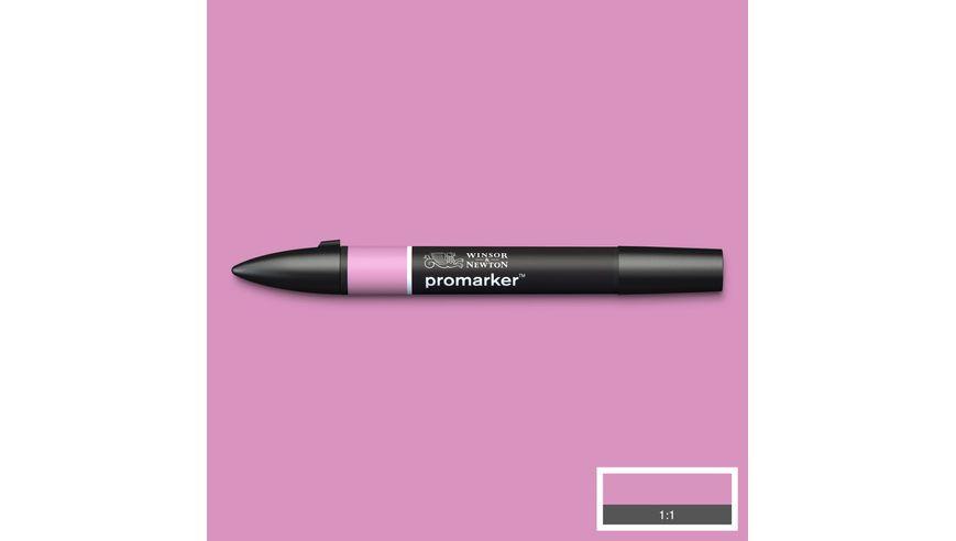 Winsor & Newton ProMarker - Twin Tip; Broad+Chisel - Alcohol Based - Fuchsia Pink