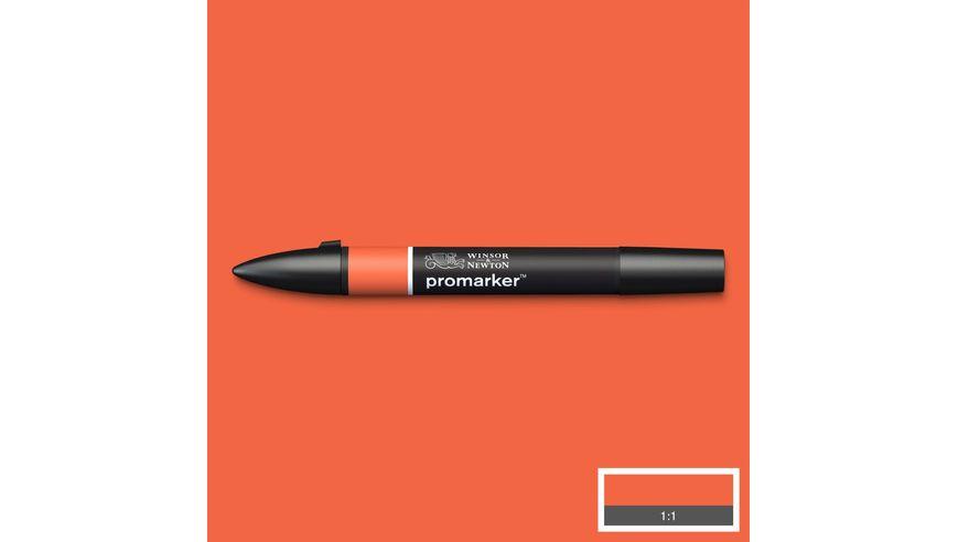 Winsor & Newton ProMarker - Twin Tip; Broad+Chisel - Alcohol Based - Orange
