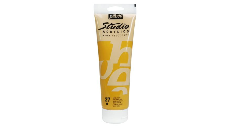 Pebeo Studio Acrylic High Viscosity 250 ml Yellow Ochre 27