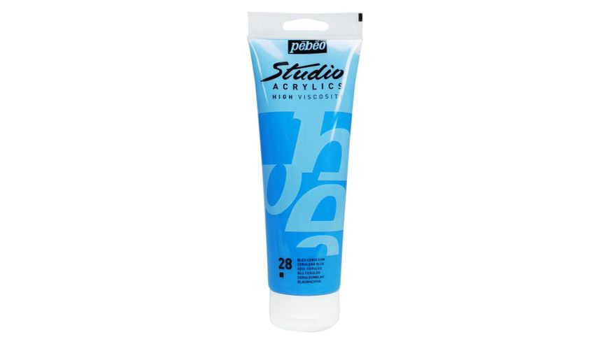 Pebeo Studio Acrylic High Viscosity 250 ml Cerulean Blue 28