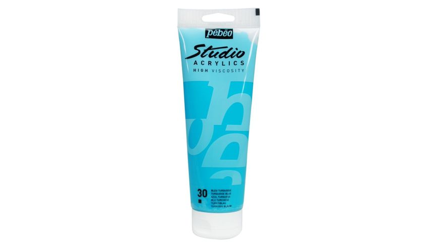 Pebeo Studio Acrylic High Viscosity 250 ml Turquoise Blue 30