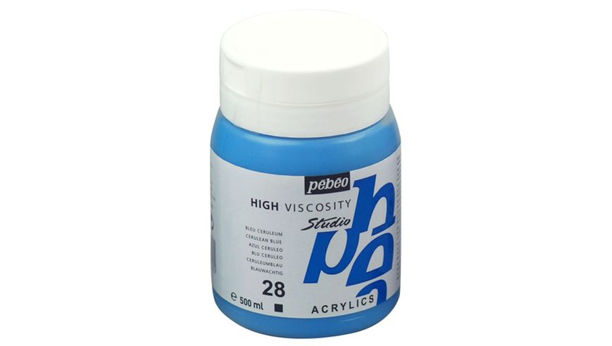 Pebeo Studio Acrylic High Viscosity 500 ml Cerulean Blue 28