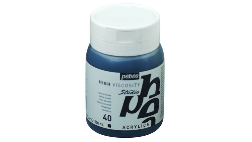 Pebeo Studio Acrylic High Viscosity 500 ml Payne's Grey 40
