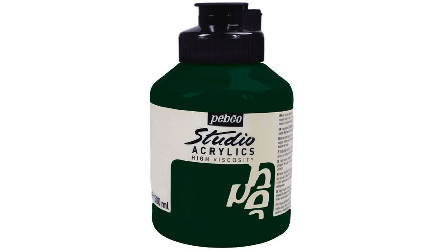 Pebeo Studio Acrylic High Viscosity 500 ml Hooker's Green 44