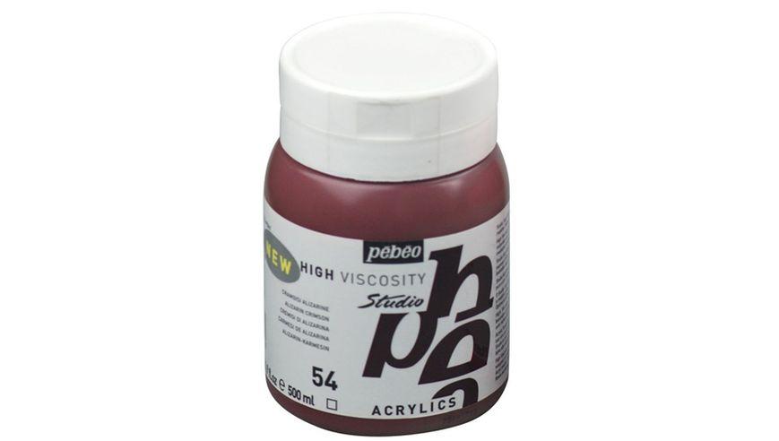 Pebeo Studio Acrylic High Viscosity 500 ml Alizarin Crimson 54