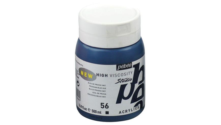 Pebeo Studio Acrylic High Viscosity 500 ml Prussian Blue Hue 56
