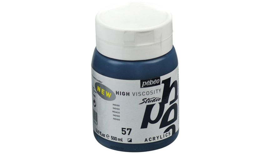 Pebeo Studio Acrylic High Viscosity 500 ml Indigo 57