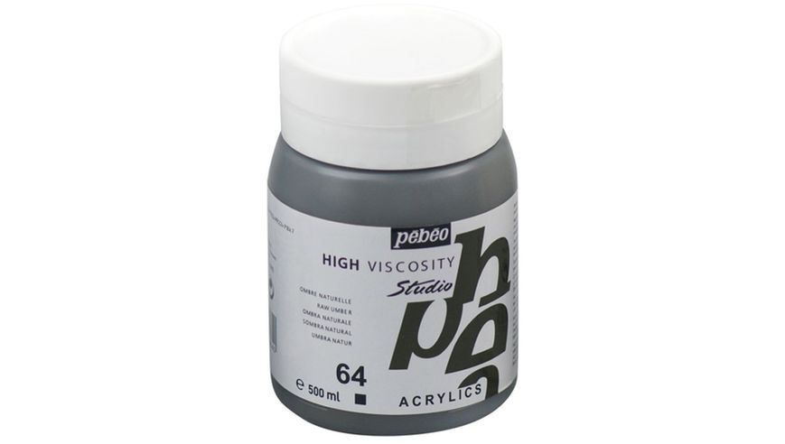 Pebeo Studio Acrylic High Viscosity 500 ml Raw Umber 64
