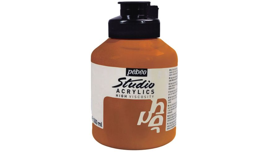Pebeo Studio Acrylic High Viscosity 500 ml Iridescent Copper 355
