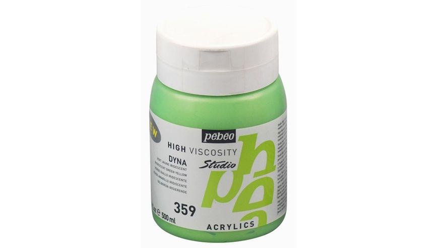 Pebeo Studio Acrylic High Viscosity 500 ml Iridescent Green Yellow 359