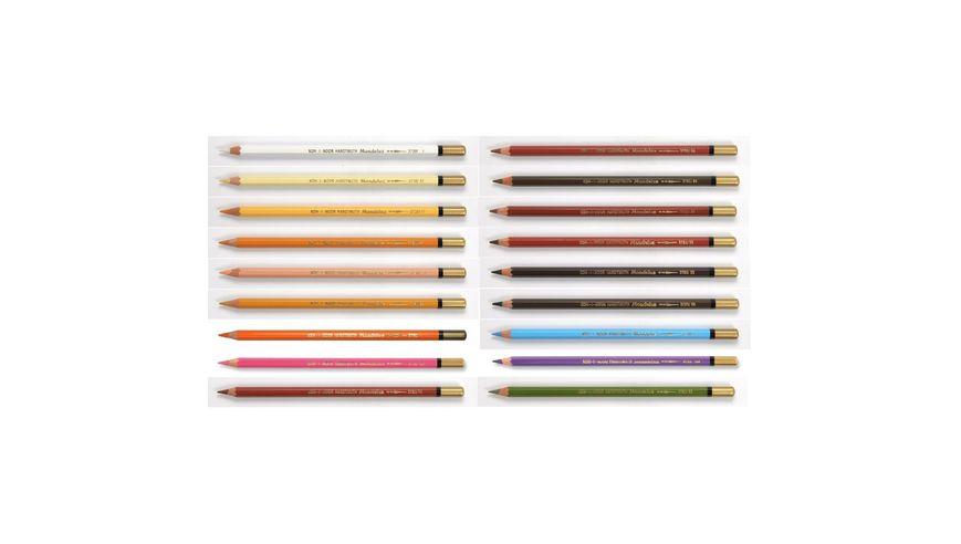 Koh-I-Noor Mondeluz Artist's Water Soluble Coloured Pencils - Set of 18 Portrait Colours