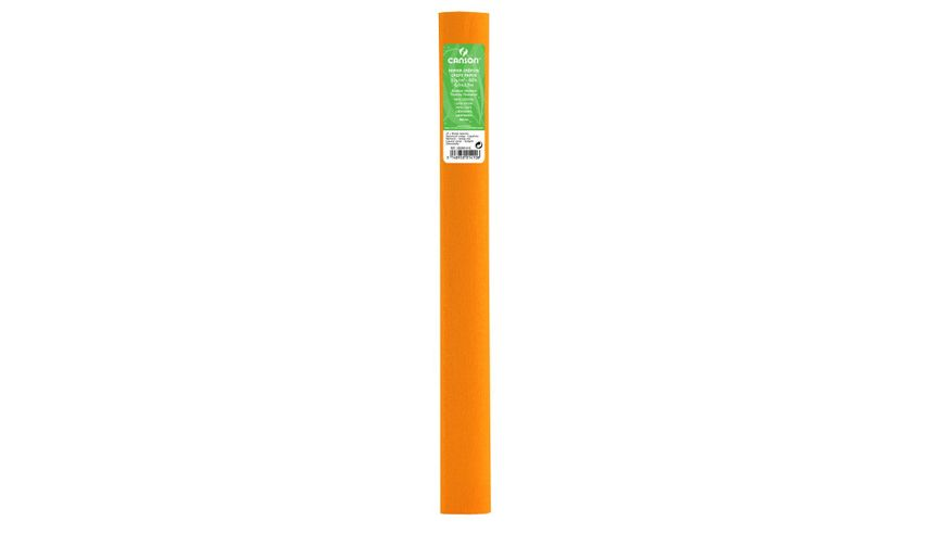 Canson Standard Crepe Paper Roll - 32 GSM, 50 x 250 cm  - Nasturtium Orange