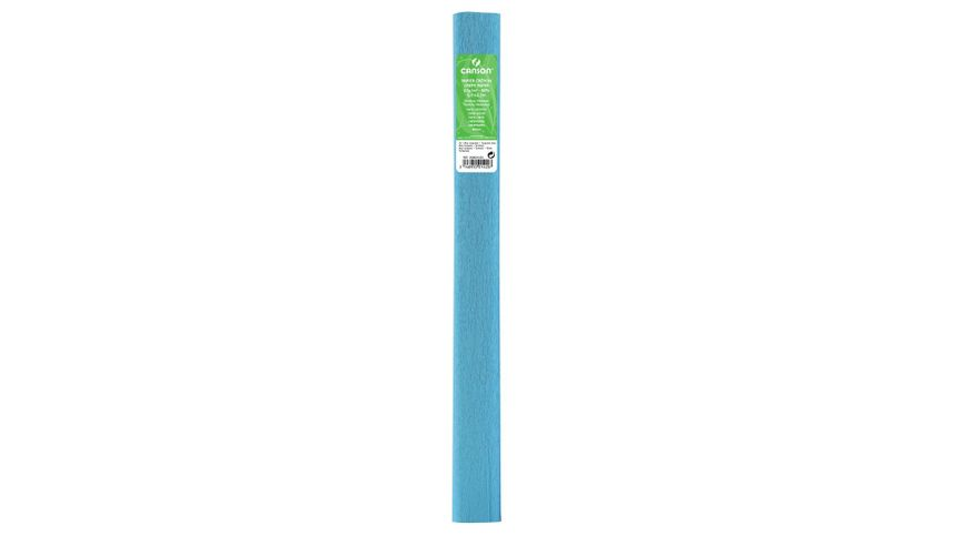 Canson Standard Crepe Paper Roll - 32 GSM, 50 x 250 cm  - Turquoise Blue