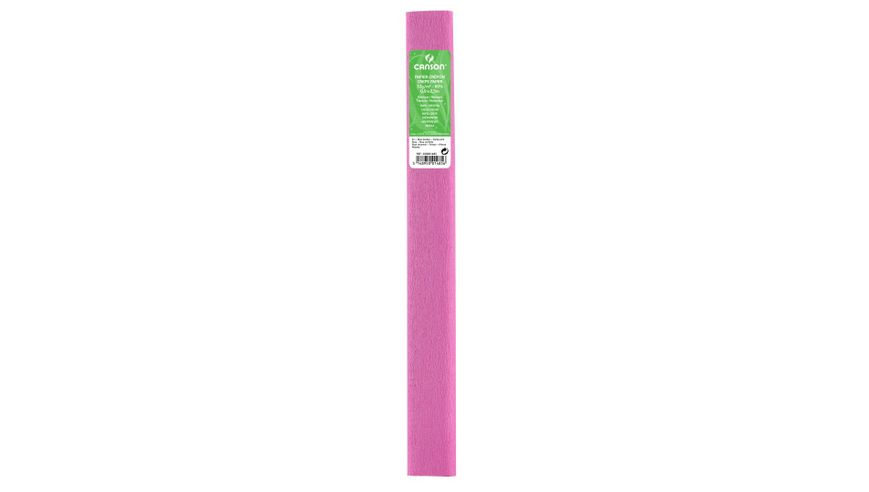 Canson Standard Crepe Paper Roll - 32 GSM, 50 x 250 cm  - Bonbon Pink