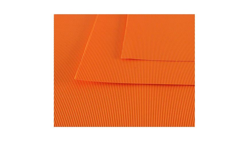 Canson Corrugated Cardboard Paper Pack of 10 - 300 GSM, 50 x 70 cm  - Orange