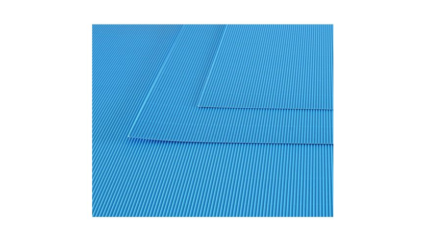 Canson Corrugated Cardboard Paper Pack of 10 - 300 GSM, 50 x 70 cm  - Turquoise Blue