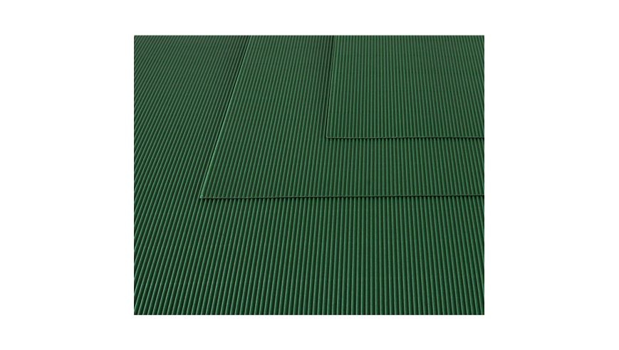 Canson Corrugated Cardboard Paper Pack of 10 - 300 GSM, 50 x 70 cm  - Bottle Green