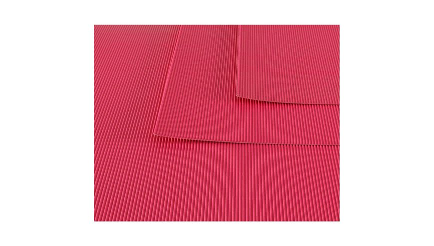 Canson Corrugated Cardboard Paper Pack of 10 - 300 GSM, 50 x 70 cm  - Acid Pink