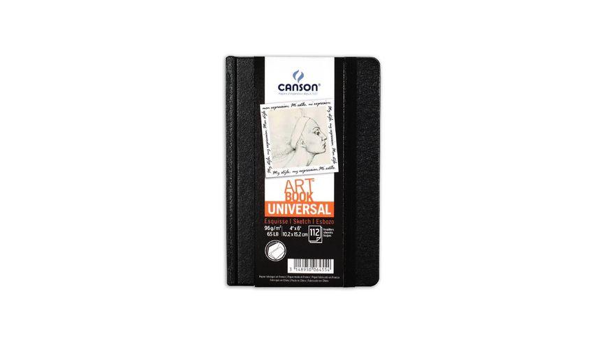 Canson Universal Art Book - 96 GSM - A6 - 112 Fine Grain Sheets