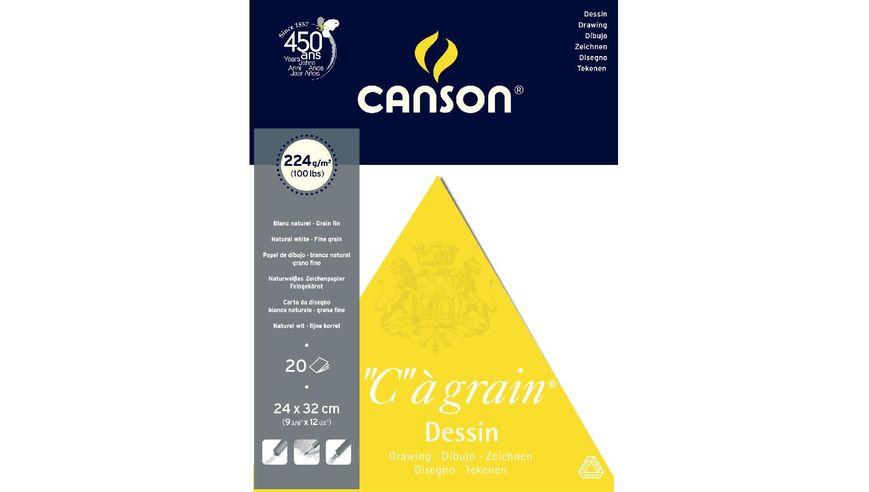 Canson C a' grain 224 GSM 24 x 32 cm Pad of 20 Fine Grain Sheets