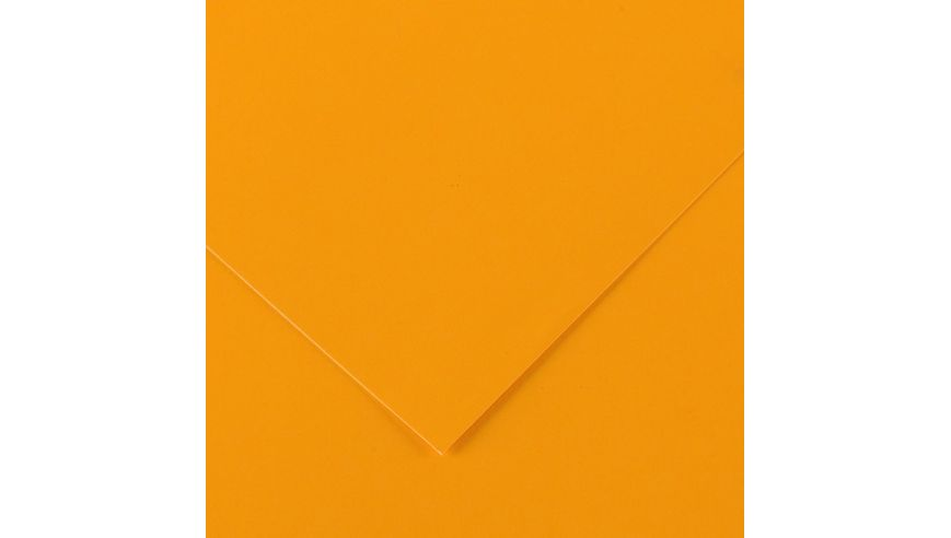Canson Iris Vivaldi 250 GSM A3 Pack of 5 Smooth Grain Sheets - Fluorescent Orange