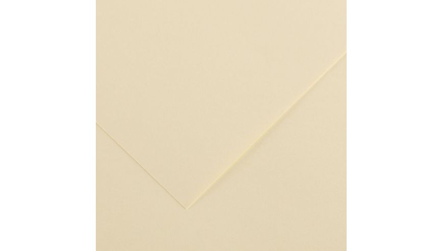 Canson Colorline 150 GSM 50 x 65 cm Pack of 25 Smooth & Light Grain Sheets - Cream