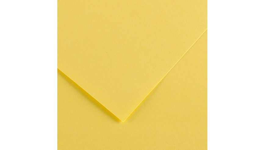 Canson Colorline 150 GSM 50 x 65 cm Pack of 25 Smooth & Light Grain Sheets - Straw Yellow