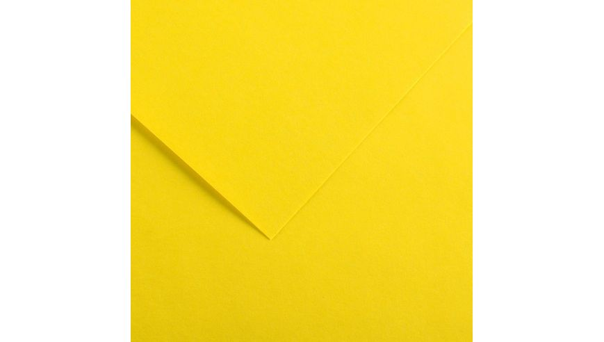 Canson Colorline 150 GSM 50 x 65 cm Pack of 25 Smooth & Light Grain Sheets - Canary Yellow