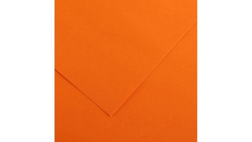 Canson Colorline 150 GSM 50 x 65 cm Pack of 25 Smooth & Light Grain Sheets - Orange