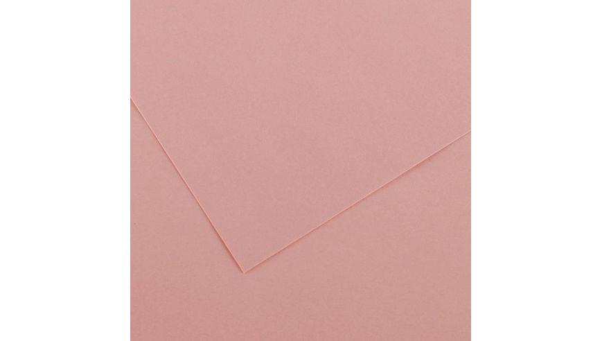 Canson Colorline 150 GSM 50 x 65 cm Pack of 25 Smooth & Light Grain Sheets - Rose Petal