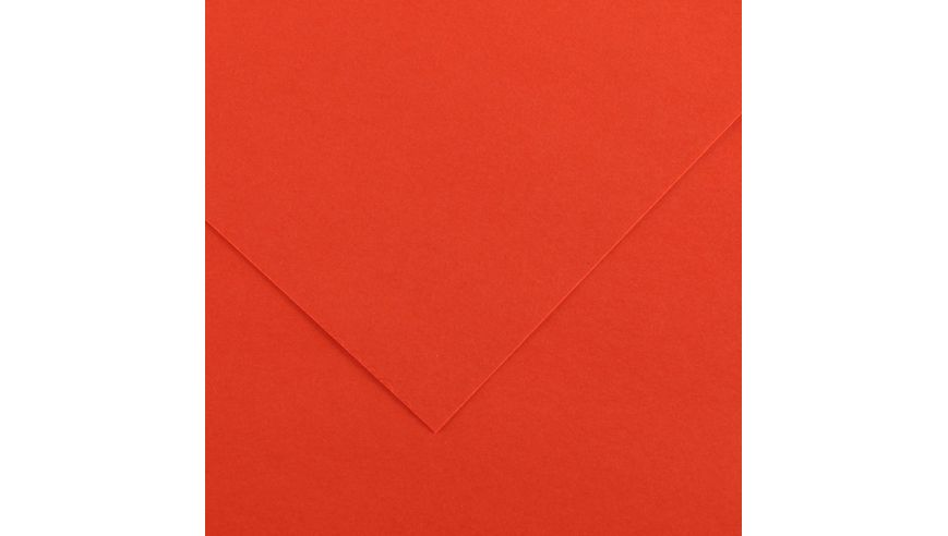 Canson Colorline 150 GSM 50 x 65 cm Pack of 25 Smooth & Light Grain Sheets - Tomato