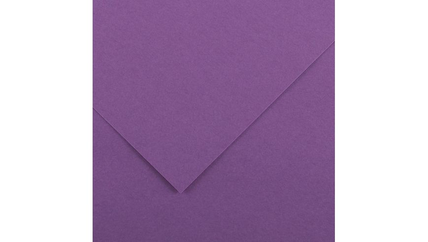 Canson Colorline 150 GSM 50 x 65 cm Pack of 25 Smooth & Light Grain Sheets - Violet