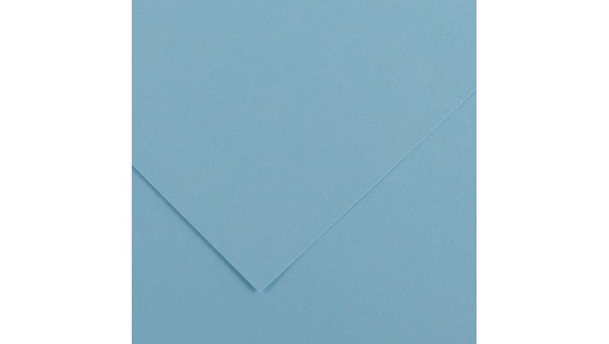 Canson Colorline 150 GSM 50 x 65 cm Pack of 25 Smooth & Light Grain Sheets - Sky Blue