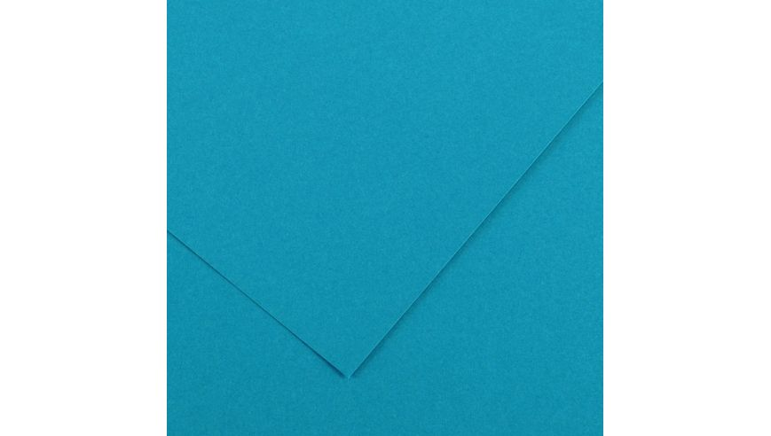 Canson Colorline 150 GSM 50 x 65 cm Pack of 25 Smooth & Light Grain Sheets - Primary Blue